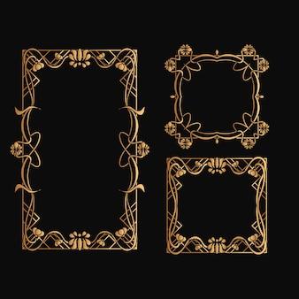 Set di cornice art nouveau