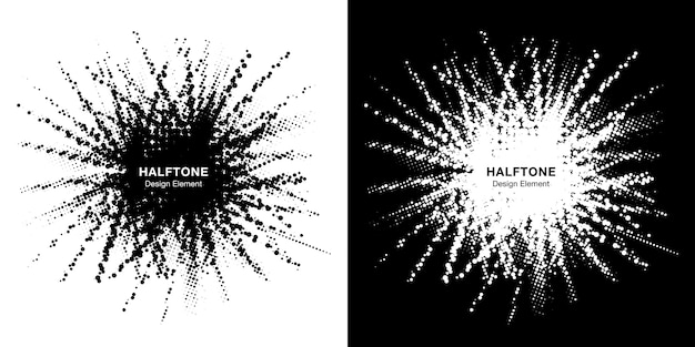 Set di cornici a stella mezzetinte. il confine del punto di lerciume usando il cerchio di semitono punteggia la struttura del quadro televisivo.