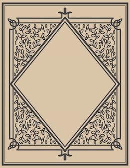 Set di cornici d'epoca. elementi per poster, emblema, segno, carta. illustrazione