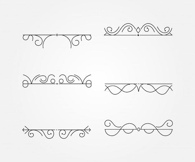 Set di cornici d'epoca. illustrazione vettoriale