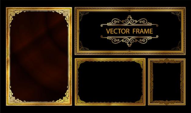 Set di cornici decorative vintage set