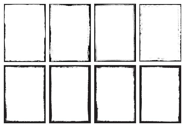 Set di cornici di confine grunge