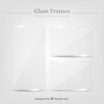 Set di cornici di vetro in stile realistico