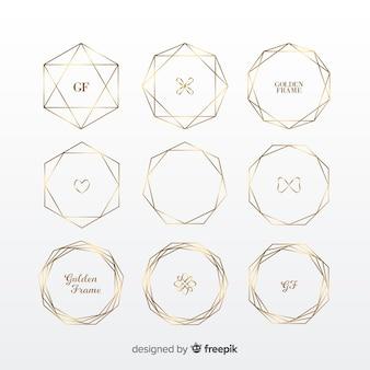 Set di cornici dorate geometriche