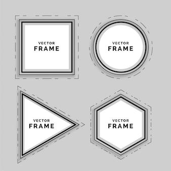 Set di cornici geometriche linea astratta