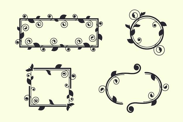 Set di cornici ornamentali vintage