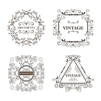 Set di cornici ornamentali