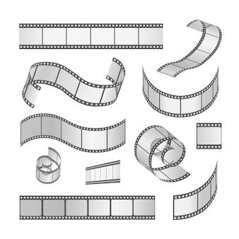 Set di cornici per pellicole per diapositive, rotolo 35 mm. striscia di pellicola negativa e striscia