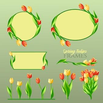 Set di cornici spring tulips