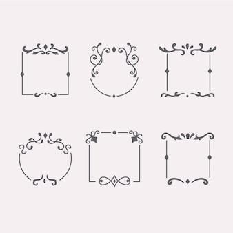 Set di cornici vintage ornamentali