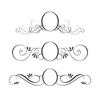 Set di cornici vintage rotondi neri