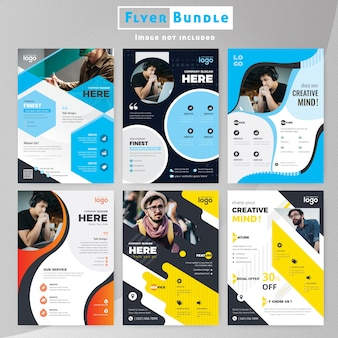 Set di corporate template flyer collection