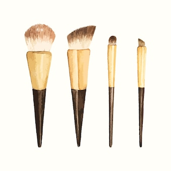 Set di cosmetici arrossati disegnati a mano