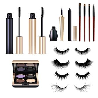Set di cosmetici realistici ciglia finte