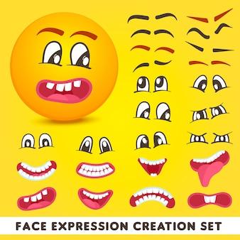 Set di creazione di espressioni facciali