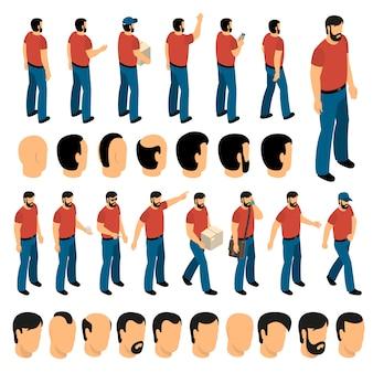 Set di creazione di personaggi uomo