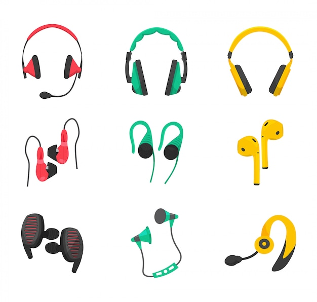 Set di cuffie full-size, aspiranti, cablate e wireless, cuffie da gioco