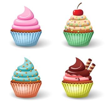 Set di cupcake dolce