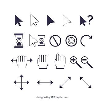 Set di cursori moderno