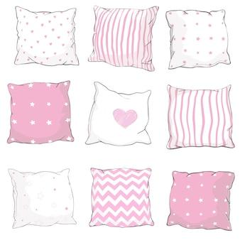 Set di cuscini vettoriali.