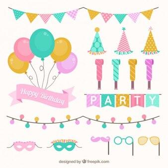 Set di decorazione di compleanno a colori