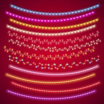 Set di decorazioni di luci di san valentino