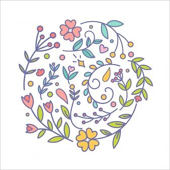 Set di decorazioni floreali.