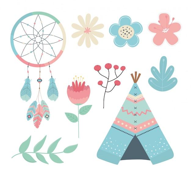 Set di decorazioni in stile boho