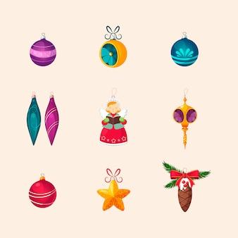 Set di decorazioni per alberi di natale