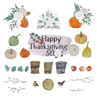 Set di decorazioni per il giorno del ringraziamento