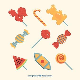 Set di deliziose caramelle
