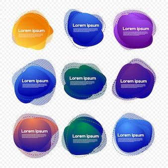 Set di design a forma di liquido