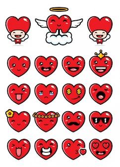 Set di design amore carino