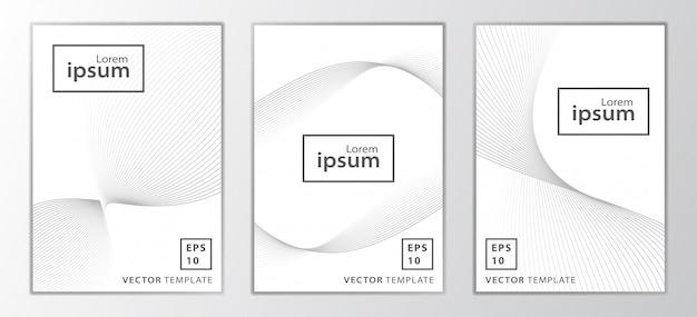 Set di design della copertina business minimale