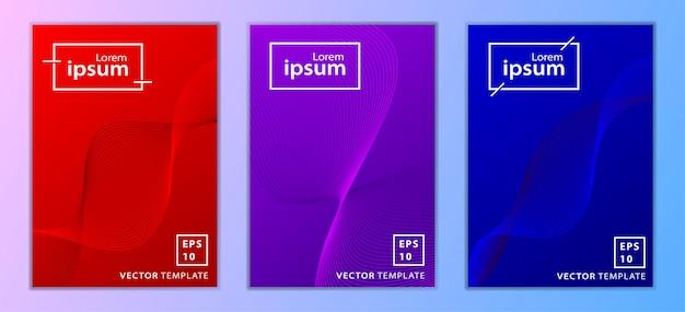Set di design di copertina brochure aziendale minimal