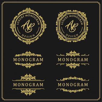 Set di design di lusso per matrimoni e decorazioni