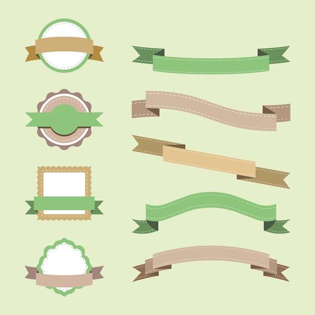 Set di design distintivo pastello