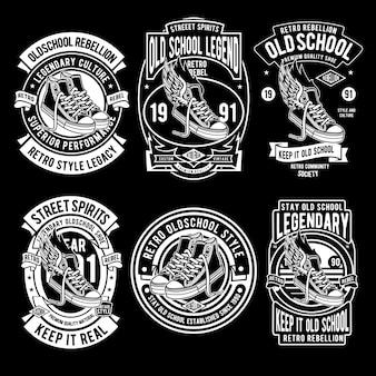 Set di design legend della vecchia scuola