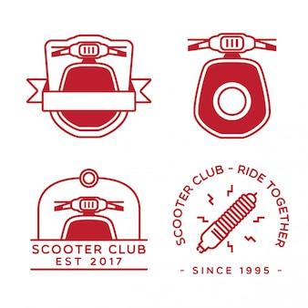 Set di design logo scooter