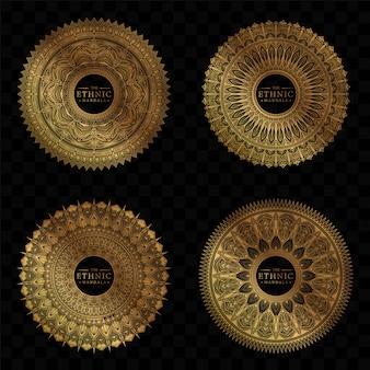 Set di design mandala cerchio