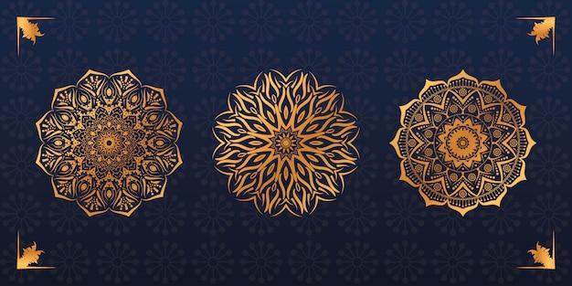 Set di design mandala di lusso
