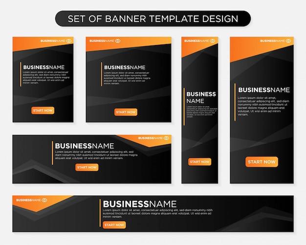 Set di design modello di banner