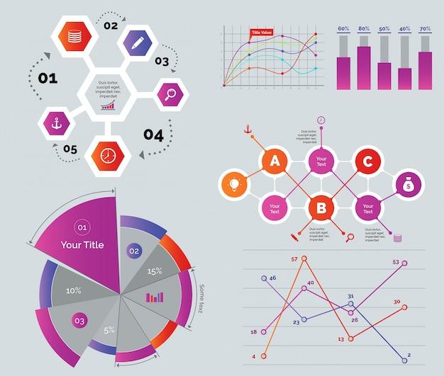 Set di diagrammi creativi