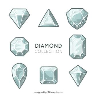 Set di diamanti con diversi disegni