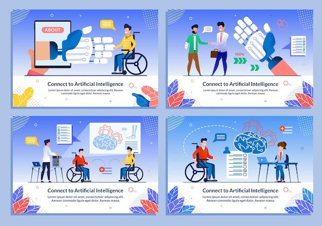 Set di diapositive di intelligenza artificiale per disabili
