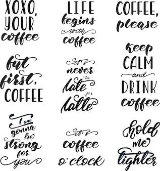 Set di disegni di lettering