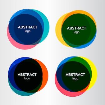 Set di disegni distintivo astratto