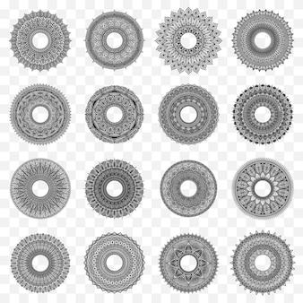 Set di disegno del cerchio mandala
