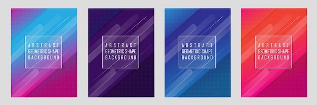 Set di disegno di sfondo con forma geometrica astratta moderna
