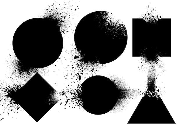 Set di distintivi che esplodono